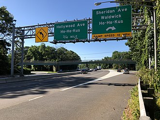 Waldwick, New Jersey - Route 17 southbound in Waldwick