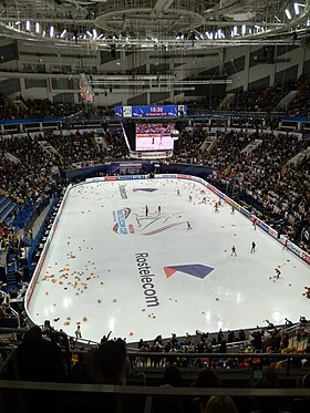 2018 - Rostelecom Cup - Men SP - Yuzuru Hanyu after SP.jpg