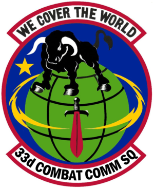 33d Combat Communications Squadron - 33d Combat Communications Squadron Emblem