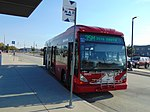 3500 South MAX bus at MIllcreek station, Aug 16.jpg