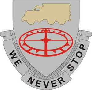 13th Sustainment Command (Expeditionary) - Image: 49Trans Bn DUI