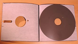 Floppy disk - Inside the 8-inch floppy disk