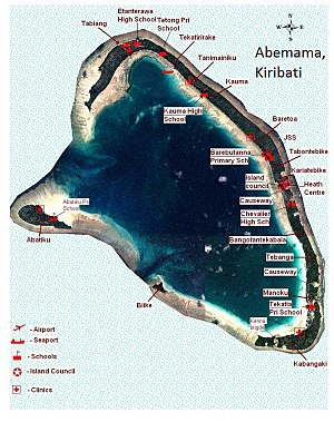Abemama - Map of Abemama