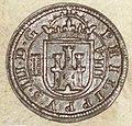 8 maravedís de Felipe III (1607) acuñada en Segovia Reverso.jpg