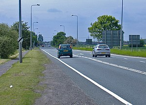 A18 road (England) - Gunness Straight west of Scunthorpe towards the Trent
