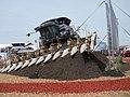 AGCO Gleaner S77 Tritura combine on hillside - 2011.jpg