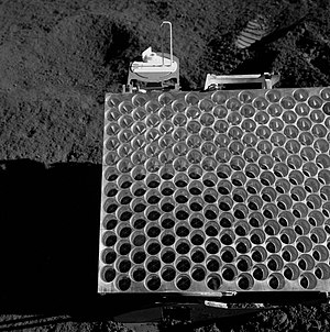 Corner reflector - Apollo 15 Lunar Laser Ranging RetroReflector (LRRR) installed on the Moon