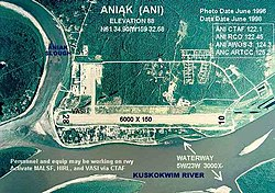 Aerial view of Aniak, 1996