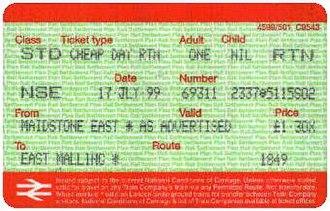 Network Railcard - Image: APTIS Status Code NSE