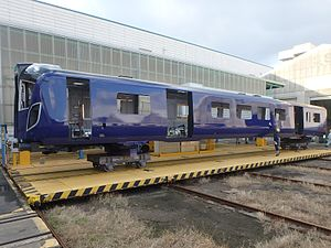 British Rail Class 385 - A Class 385 bodyshell being built by Hitachi