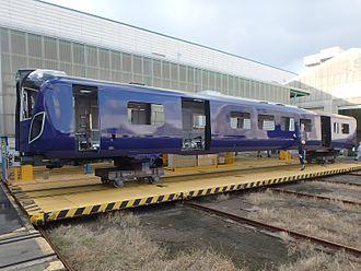 British Rail Class 385 - A Class 385 bodyshell being built by Hitachi