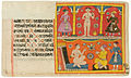 A Jain ascetic and two noblemen, all standing; the Jain ascetic, seated, conver (6125094442).jpg