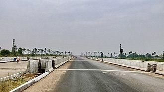 Amaravati - A bridge on seed access road