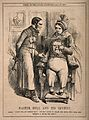 A dentist giving John Bull a penny after extracting a tooth; Wellcome V0011381.jpg