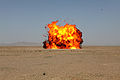 A detonation erupts as U.S. Marines with the 1st Explosive Ordnance Disposal Company, Combat Logistics Regiment 2 conduct a demolition operation in Helmand province, Afghanistan, March 17, 2013 130317-M-KS710-206.jpg