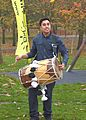 A dholak or dhol drummer Indian musical instrument.jpg