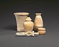 A group of stone vessels from a tomb at Haraga MET DP-744-002.jpg