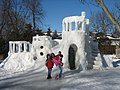 A large snow fort in Grand Rapids, Michigan.jpg