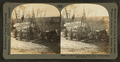 A load of logs at the Kettle river landing, Minnesota pineries, U.S.A, by Keystone View Company.png
