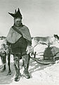 A man with two reindeer, Winter, Finnmarksvidda..jpg
