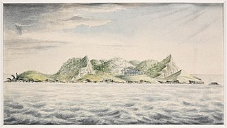Pitcairn Islands - A view of Pitcairn's Island, South Seas, 1814, J. Shillibeer