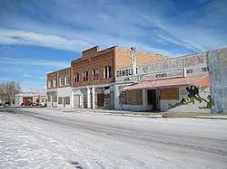 Part of downtown Shoshoni, 2012