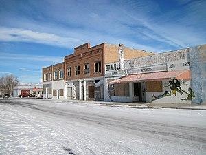 Shoshoni, Wyoming - Part of downtown Shoshoni, 2012