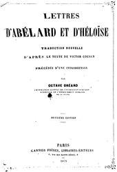 Français: Lettres d'Abelard et Heloise traduites par Victor Cousin