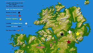 Achaidh Leithdeircc Ancient location in Ireland, reputed site of a battle or battles circa 331AD