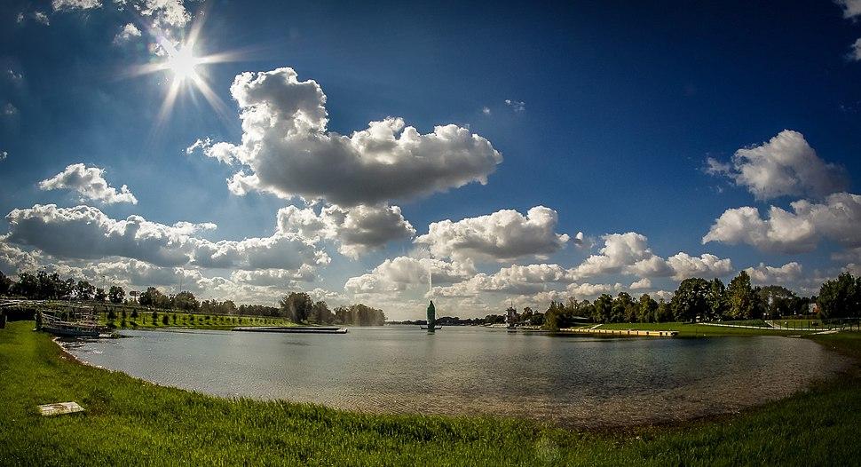 Панорамски поглед на Аду Циганлију