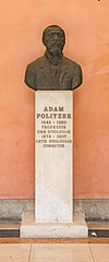 Adam Politzer (1835-1920), physician, Nr. 135, bust (bronze) in the Arkadenhof of the University of Vienna-3246-HDR.jpg