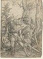 Adam en de Dood beploegen de aarde Ontwerptekeningen voor de serie gravures De Macht van de Dood (serietitel), RP-T-00-663.jpg