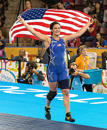 Adeline Gray at 2015 Pan Am Games victorious.jpg