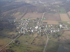 Zanesfield, Ohio - Aerial view of Zanesfield from the east