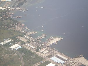 Soccsksargen - Image: Aerial shot of General Santos City Port in South Cotabato