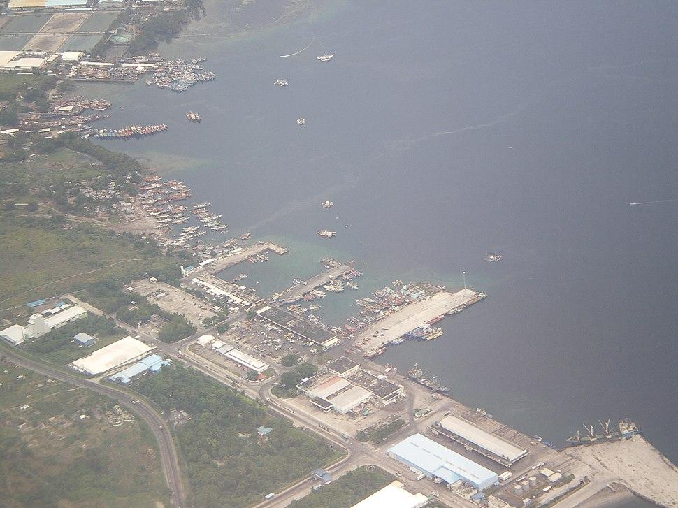Aerial shot of General Santos City Port in South Cotabato