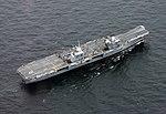 Aerial view of HMS Queen Elizabeth (R08) underway on 5 August 2017 (170805-N-NO901-279).JPG