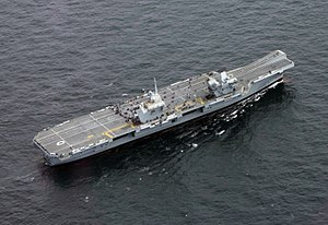 Aerial view of HMS Queen Elizabeth (R08) underway on 5 August 2017 (170805-N-NO901-279).JPG