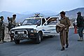 Afghan Soldiers with the Afghan National Army, 6th Kandak, and members of the Afghan Uniformed Police direct locals to exit their truck, at a traffic checkpoint, in the Nazyan district, Nangarhar province 120310-A-LP603-175.jpg