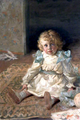 Agatha Christie's Nephew James Watts as a 'Boy, Seated on a Rug' by Nathaniel Hughes John Baird.png