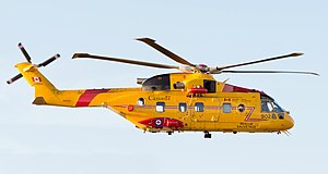 AgustaWestland CH-149 Cormorant - A Royal Canadian Air Force CH-149 Cormorant flying near Canadian Forces Base Greenwood, Nova Scotia, Canada