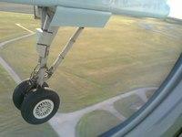 File:Airplane wheel during landing.webm