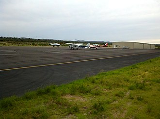 San Manuel Airport - Image: Airplanes Parked at the Airport panoramio