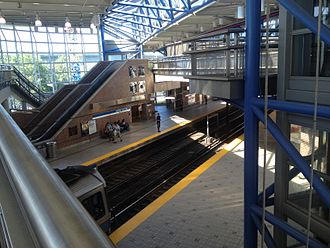 Airport (MBTA station) - The 2004-built Airport Station in 2014