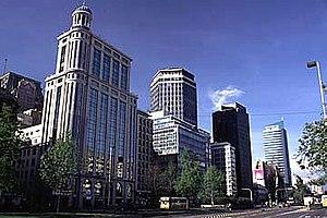 Santiago Province, Chile - Alameda del Libertador Bernardo O'Higgins, a large boulevard in downtown Santiago.