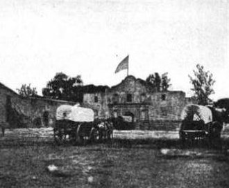 Alamo Mission in San Antonio - Alamo Plaza in the 1860s