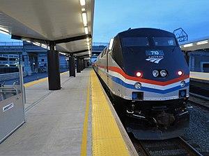 Albany–Rensselaer station - Platform at Albany-Rensselaer Station. Platform 1 of 2