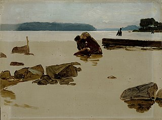 Open Sea off Haikko, study for Boys Playing on the Shore