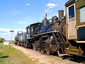 Stettler, Alberta - Alberta Prairie Railway, engine 41
