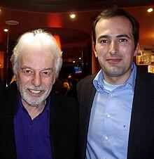 Alejandro Jodorowsky e lo scrittore spagnolo Diego Moldes, Parigi, 2008
